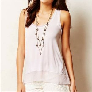 Bordeaux Raw Edge Lavender Tank Top